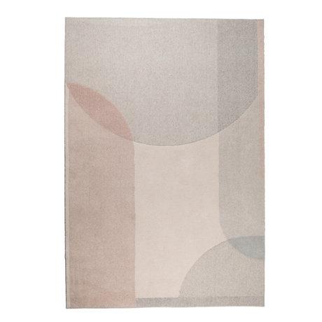 Zuiver Teppich Traum beige rosa Textil 200x300cm