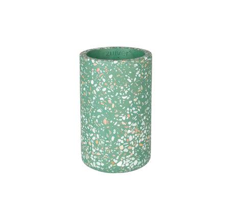Zuiver Vase Fajen grüner Beton Ø15x25cm