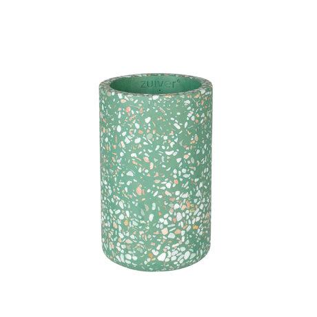 Zuiver Vase Fajen béton vert Ø15x25cm