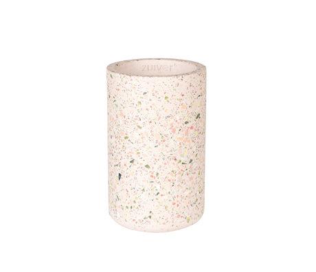 Zuiver Vaas Fajen roze beton Ø15x25cm
