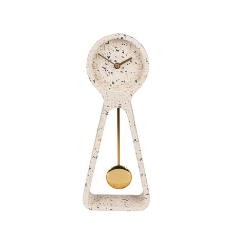 Zuiver Pendulum Time table clock white concrete 14.5x6x38cm