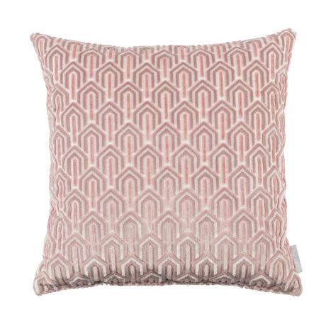 Zuiver Kussen Beverly roze textiel 45x45cm