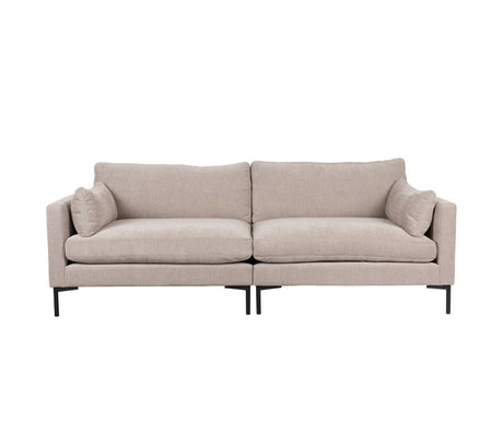Zuiver Sofa Summer 3-seater beige textile 230x101x82cm