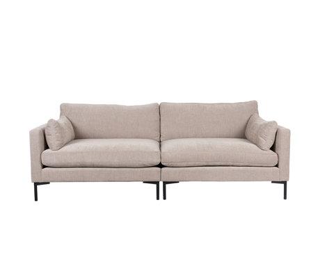 Zuiver Sofa Summer 3-Sitzer beige Textil 230x101x82cm