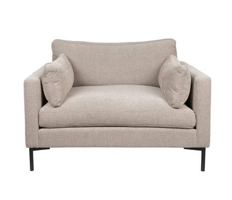 Zuiver Sessel Sommer beige Textil 125x101x82cm