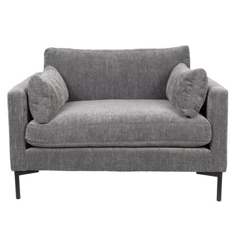 Zuiver Fauteuil Summer textile gris foncé 125x101x82cm