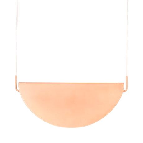 Zuiver Lampe Rani rosa Glas Ø13x3cm