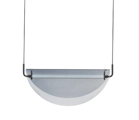 Zuiver Lampe Rani verre gris Ø13x3cm