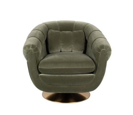 Dutchbone Sessel Mitglied grün Textilmetall 82x88x79cm