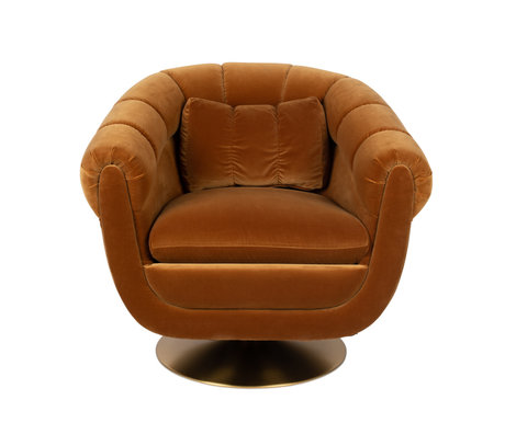 Dutchbone Armchair Member braunes Textilmetall 82x88x79cm