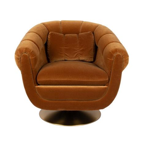 Dutchbone Armchair Member brown textile metal 82x88x79cm