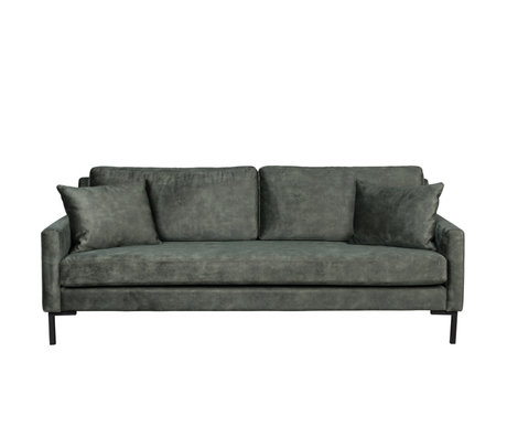 Dutchbone Houda Waldgrün 3-Sitzer Polyester Metall 202x87x85cm