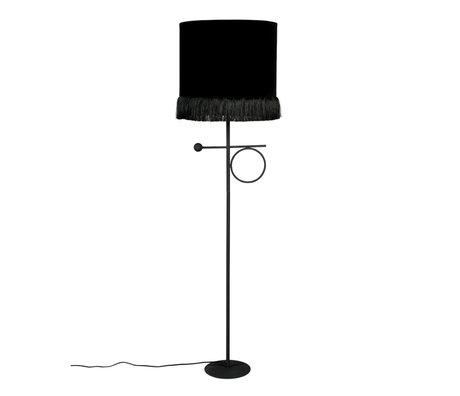 Dutchbone Vloerlamp Loyd zwart textiel ijzer 31x21x127cm