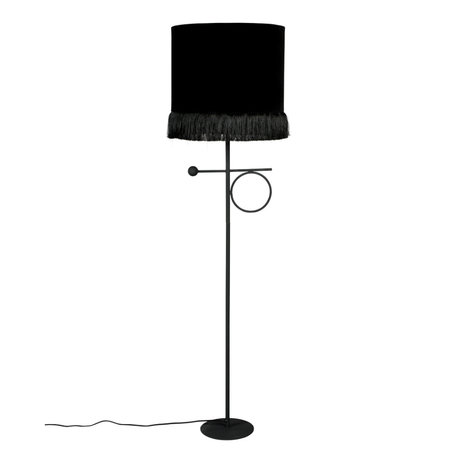 Dutchbone Floor lamp Loyd black textile iron 31x21x127cm