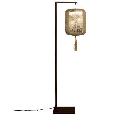 Dutchbone Stehlampe Suoni Messing Gold Polyester Eisen 30x32x157cm