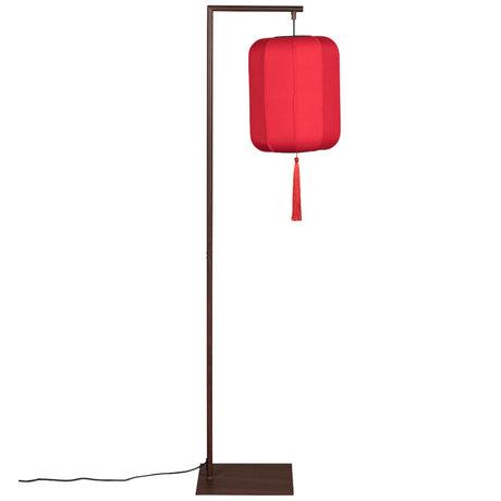 Dutchbone Floor lamp Suoni red polyester iron 30x32x157cm