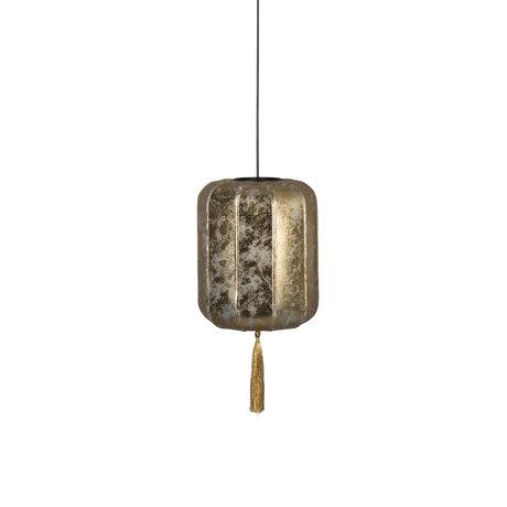 Dutchbone Hanglamp Suoni goud S ijzer Ø30x170cm
