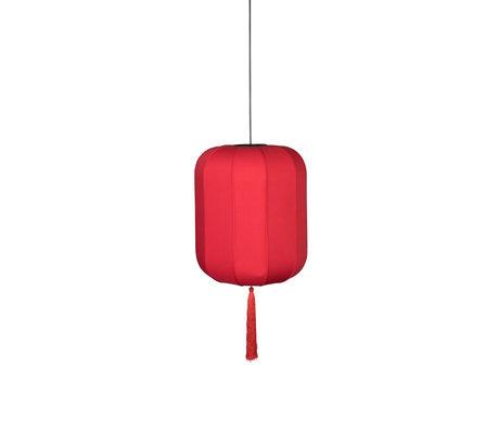Dutchbone Suoni hanging lamp red L iron Ø40x185cm