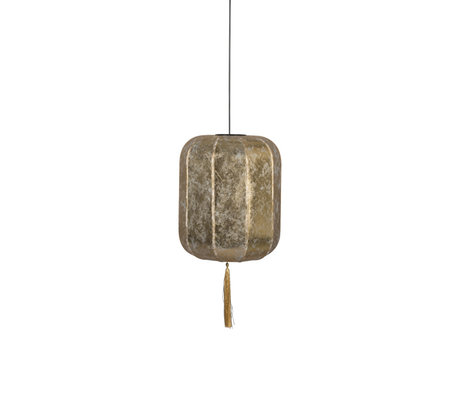 Dutchbone Suspension light Suoni gold L iron Ø40x185cm