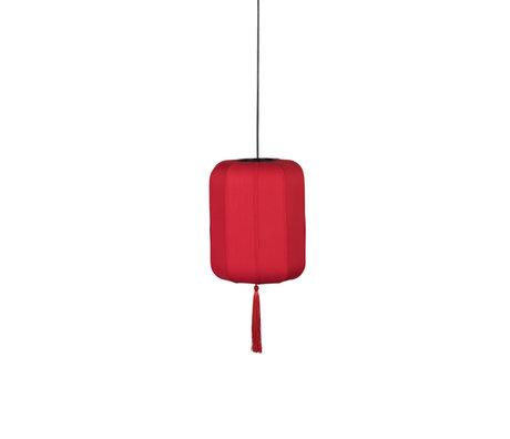 Dutchbone Lampe à suspension Suoni rouge S fer Ø30x170cm