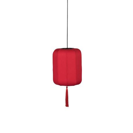 Dutchbone Hanging lamp Suoni red S iron Ø30x170cm