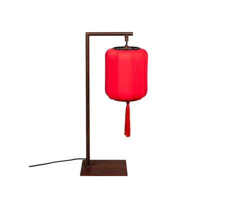 Dutchbone Lampe à poser Suoni fer brun rouge 20x20x60cm