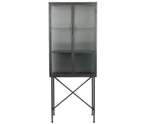Dutchbone Schaufenster Boli schwarz Glas Eisen 70x34x178cm
