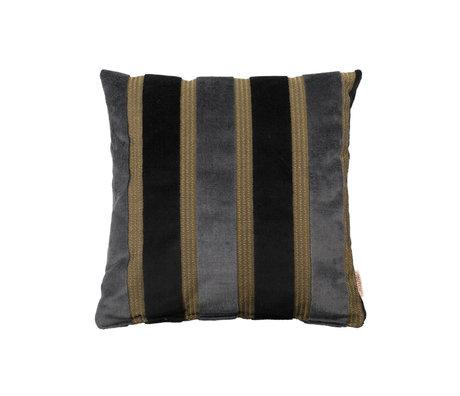Dutchbone Kissen Scott schwarz grau gelb 45x45cm