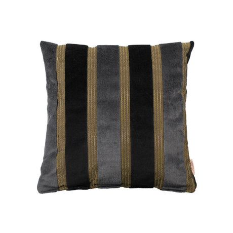 Dutchbone Cushion Scott black gray yellow 45x45cm