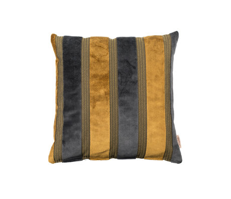Dutchbone Kissen Scott gelb grau 45x45cm