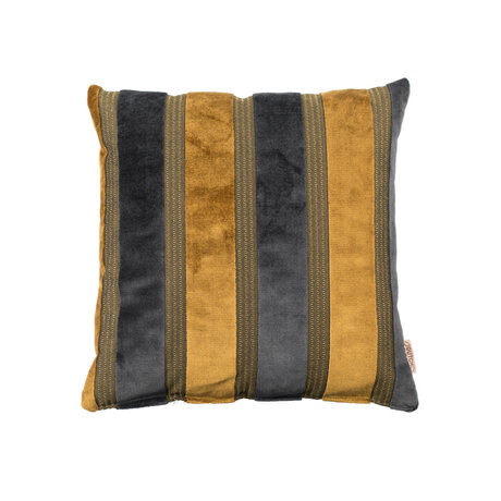 Dutchbone Coussin Scott jaune gris 45x45cm