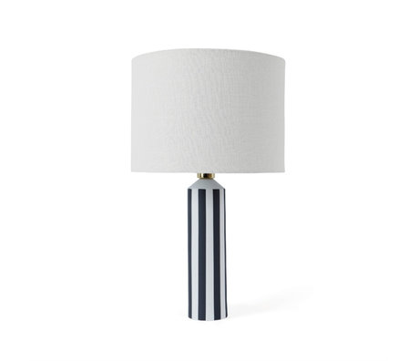 OYOY Table lamp Toppu off-white dark gray ceramic Ø34x57cm
