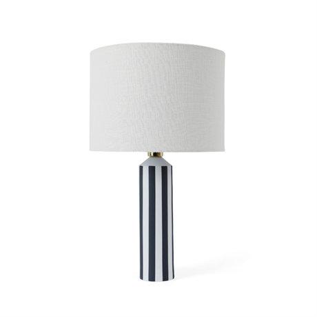 OYOY Lampe de table Toppu blanc cassé gris foncé céramique Ø34x57cm