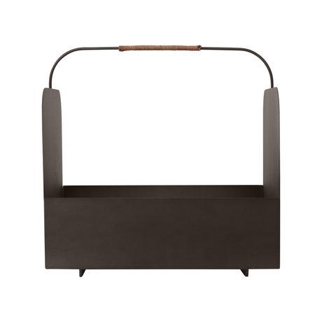 OYOY Storage box Maki brown metal 37x32x36cm