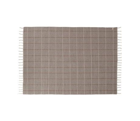 OYOY Vloerkleed Grid grijs textiel 200x140cm