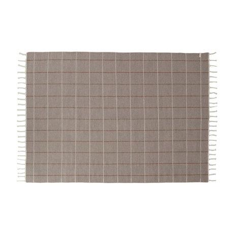 OYOY Carpet Grid gray textile 200x140cm