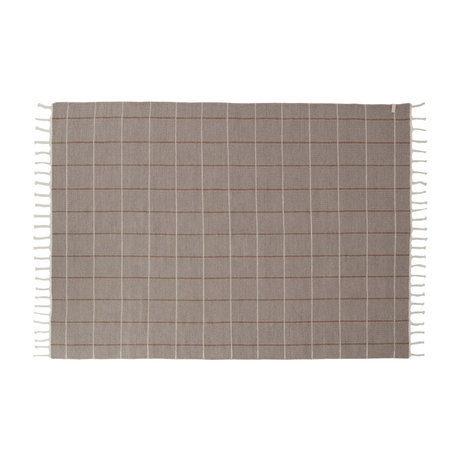 OYOY Tapis Grid textile gris 200x140cm