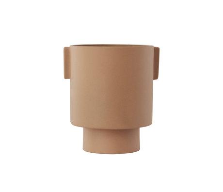 OYOY Pot Inka Kana medium camel marron céramique Ø15x16cm