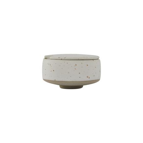 OYOY Sugar bowl Hagi off-white earthenware Ø8x5cm