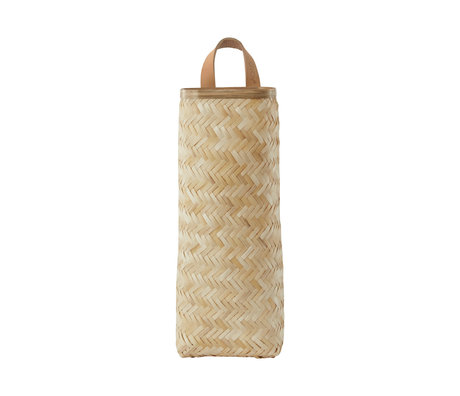 OYOY Panier Sporta bambou naturel 13x10x35cm