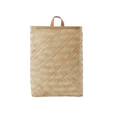 OYOY Basket Sporta large natural bamboo 31x15x42cm