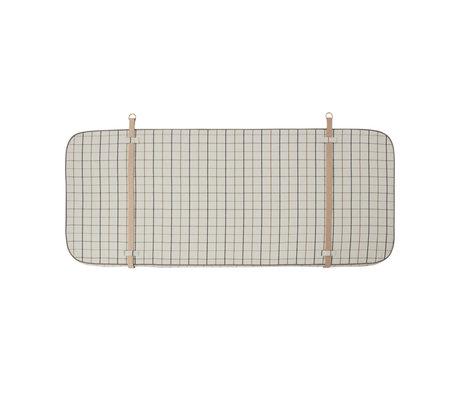 OYOY Headboard Grid off-white textile 184x4x74cm