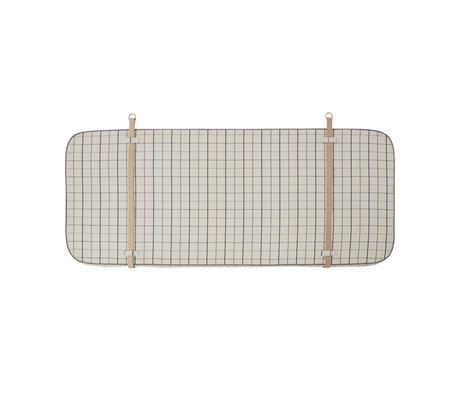 OYOY Hoofdbord Grid gebroken wit textiel 184x4x74cm