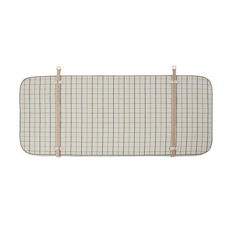 OYOY Tête de lit Grid textile blanc cassé 184x4x74cm