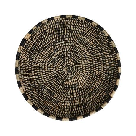 OYOY Korb Boo schwarzer natürlicher Bambus Ø58x11cm