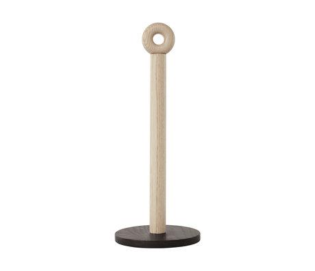 OYOY Keukenrolhouder Hoop naturel hout Ø13x33cm