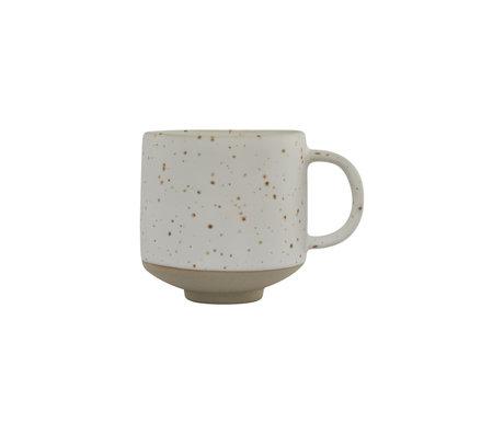 OYOY Kopje Hagi wit lichtbruin aardewerk Ø8x8,5cm