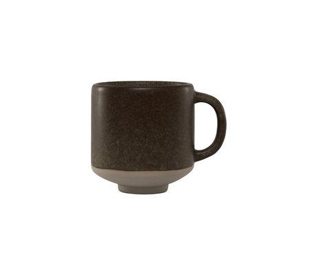 OYOY Tasse en faïence marron foncé Hagi Ø8x8.5cm