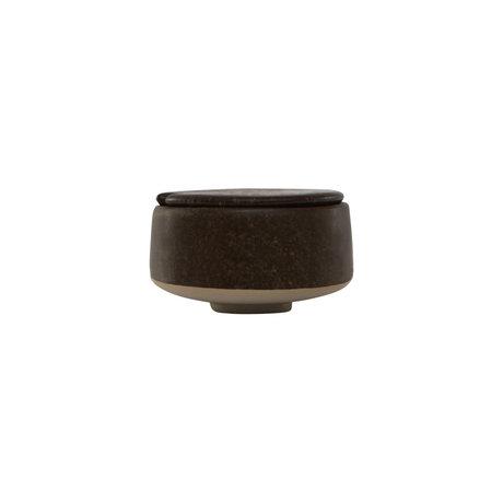 OYOY Sugar bowl Hagi dark brown earthenware Ø8x5cm