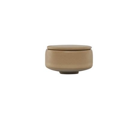 OYOY Sugar bowl Hagi light brown earthenware Ø8x5cm